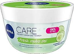 Парфюмерия и Козметика Хиалуронов хидратиращ гел за лице с екстракт от краставица - Nivea Care Fresh Hydro Gel