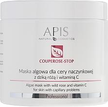Парфюмерия и Козметика Маска от водорасли за капилярна кожа с екстракт от шипка и витамин С - APIS Professional Algae Mask