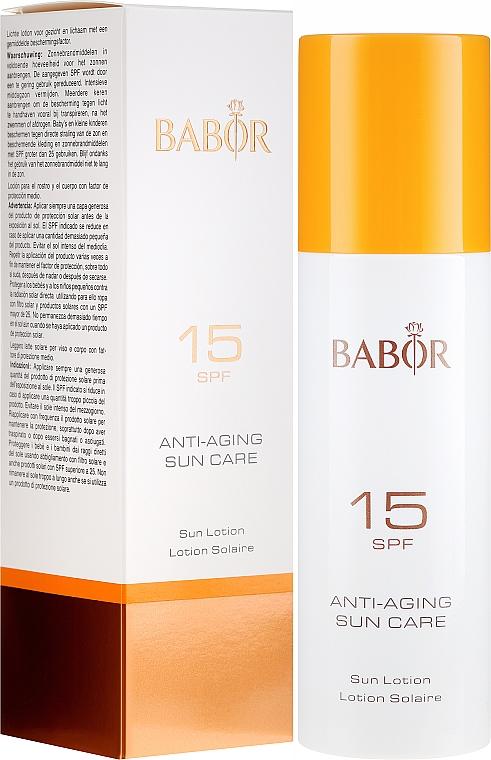 Мляко за лице и тяло SPF 15 - Babor Anti-Aging Sun Care Sun Lotion SPF 15 — снимка N1