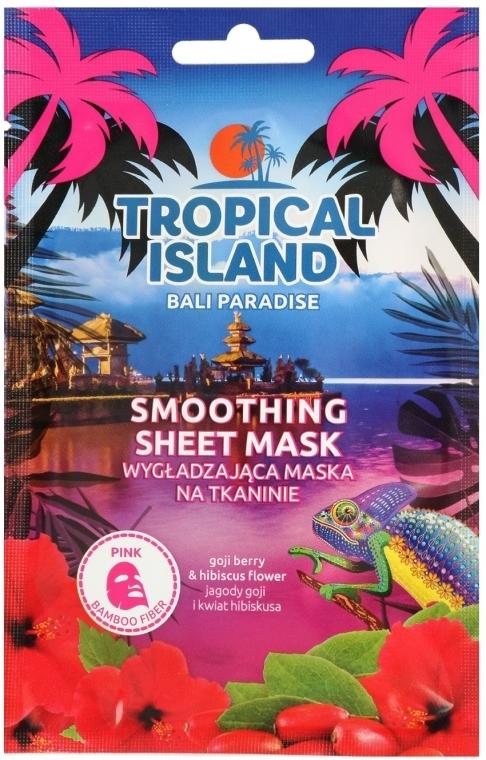 Изглаждаща памучна маска за лице - Marion Tropical Island Bali Paradise Smoothing Sheet Mask — снимка N1