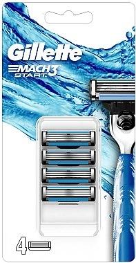 Сменяеми ножчета за самобръсначка - Gillette Mach3 Start Razor Blades — снимка N1