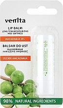 Парфюмерия и Козметика Балсам за устни с масло от макадамия - Venita Lip Balm Macadamia Oil