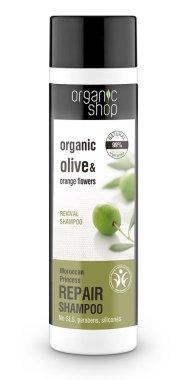 """Шампоан за коса """"Възстановяване"""" - Organic Shop Organic Olive and Argan Oil Repair Shampoo"""