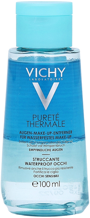 2в1 лосион за почистване на грим - Vichy Purete Thermale Waterproof Eye Make-Up Remover — снимка N2