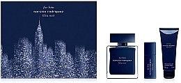 Парфюми, Парфюмерия, козметика Narciso Rodriguez for Him Bleu Noir - Комплект (тоал. вода/100ml + тоал. вода/10ml + душ гел/75ml)