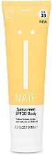Парфюмерия и Козметика Слънцезащитен крем за тяло - Naif Sunscreen Body Spf30