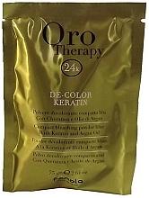 Парфюмерия и Козметика Изсветляваща пудра за коса с кератин и арганово масло - Fanola Oro Therapy Color Keratin