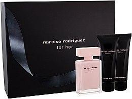 Narciso Rodriguez For Her - Комплект (edp/50ml + лос. за тяло/75ml + душ гел/75ml) — снимка N3