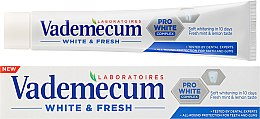 Парфюми, Парфюмерия, козметика Паста за зъби - Vademecum White & Fresh Toothpaste