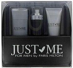 Парфюми, Парфюмерия, козметика Paris Hilton Just Me For Men - Комплект (тоал. вода/100ml + део/78g + дуе гел/90ml)
