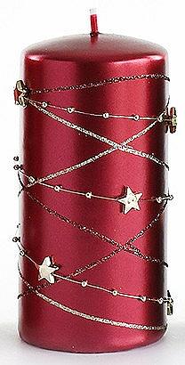 Декоративна свещ, бордо, 7x10 см - Artman Christmas Garland — снимка N1