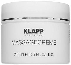 Парфюмерия и Козметика Масажен крем - Klapp Massage Creame
