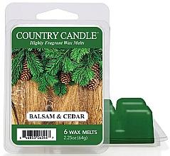 Парфюмерия и Козметика Ароматен восък - Country Candle Balsam & Cedar Wax Melts