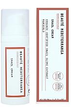 Парфюмерия и Козметика Подхранващ крем за лице с екстракт от охлюв - Beaute Mediterranea Snail Cream