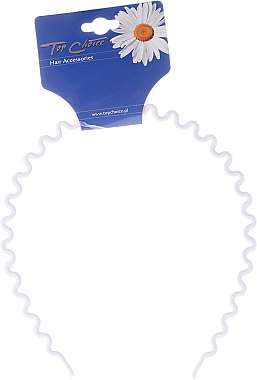 """Диадема за коса с вълниста форма в бяло """"White Collection"""", 27468 - Top Choice — снимка N1"""