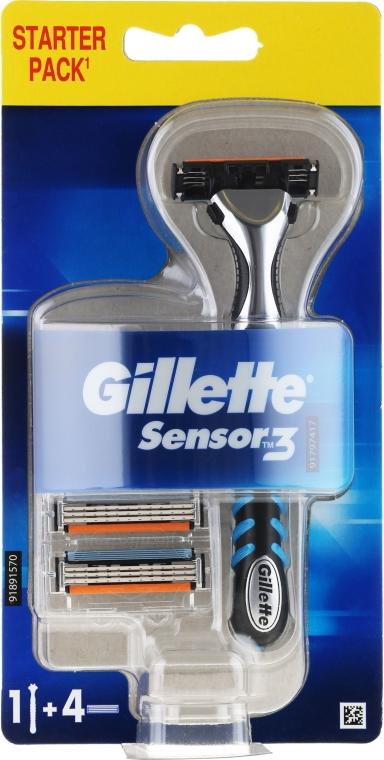 Самобръсначка с 4 сменяеми ножчета - Gillette Blue 3
