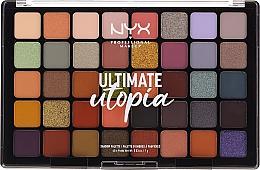 Парфюмерия и Козметика Палитра сенки за очи - NYX Ultimate Utopia Shadow Palette Summer 2020