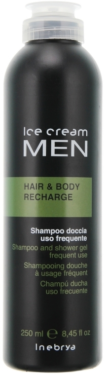 Тонизиращ шампоан- душ гел - Inebrya Ice Cream Men Hair and Body Recharge — снимка N1