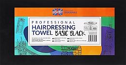 Парфюмерия и Козметика Еднократни кърпи, 50 бр., черни - Ronney Professional Hairdressing Towel Basic Black