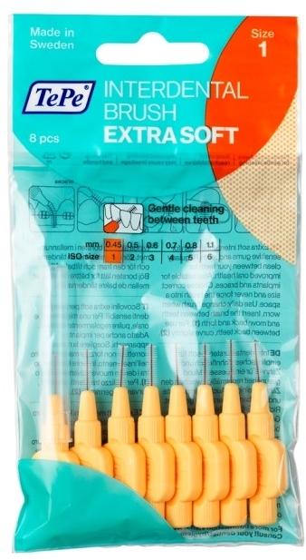 Интердентални четки за зъби - TePe Interdental Brush Extra Soft 0.45mm — снимка N1