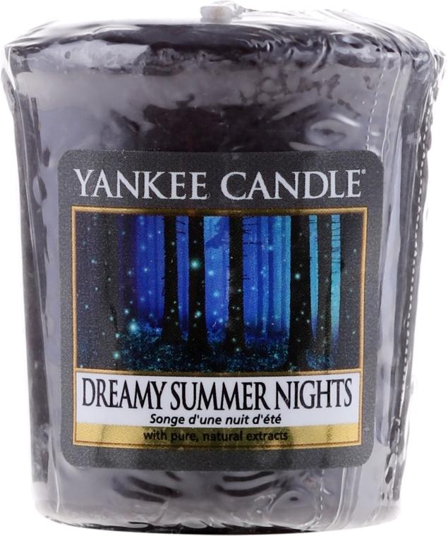 """Ароматна свещ """"Приказни летни нощи"""" - Yankee Candle Scented Votive Dreamy Summer Nights — снимка N1"""