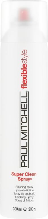Лак за коса със средна фиксация - Paul Mitchell Flexible Style Super Clean Spray — снимка N1