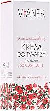 Парфюмерия и Козметика Дневен крем против бръчки за мазна кожа - Vianek