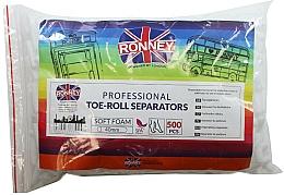 Парфюмерия и Козметика Разделители за педикюр, 500 бр. - Ronney Professional Toe-Roll Sparators