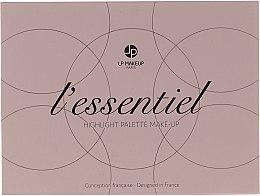 Парфюми, Парфюмерия, козметика Палитра хайлайтъри - LP Makeup L'Essentiel Paper Highlight Palette