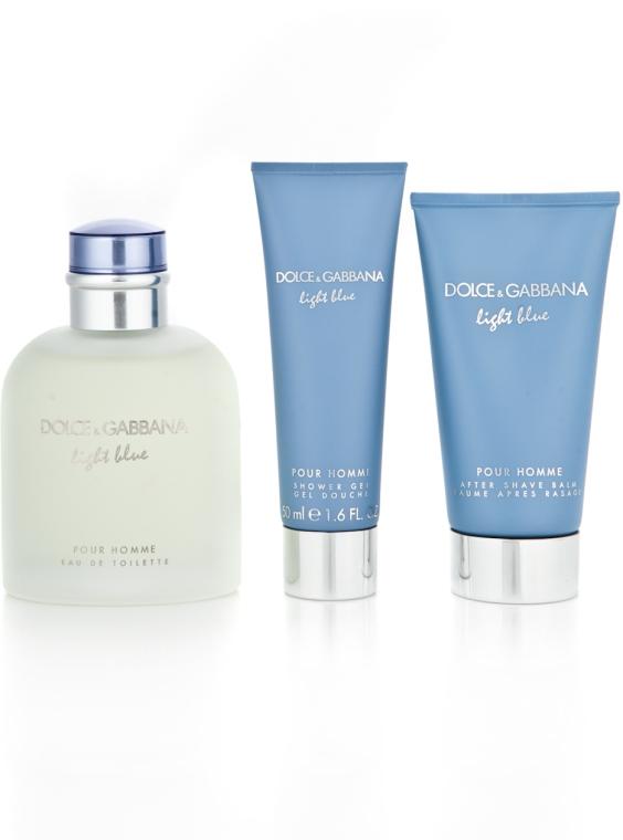Dolce & Gabbana Light Blue Pour Homme - Комплект (edt 125 + sh/g 50 + a/sh balm 75) — снимка N5