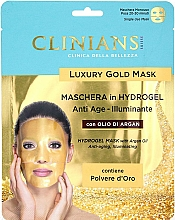 Парфюмерия и Козметика Хидрогел маска за лице с арганово масло - Clinians Hydrogel Mask With Argan Oil And Golden Powder