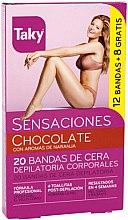 Парфюмерия и Козметика Депилиращи восъчни ленти за тяло - Taky Chocolate Body Wax Strips With Orange Fragrance Box