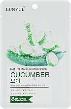 Парфюмерия и Козметика Памучна маска за лице с краставица - Eunyul Natural Moisture Mask Pack