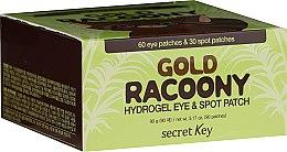 Парфюмерия и Козметика Хидрогел пачове за кожата около очите, със злато - Secret Key Gold Racoony Hydrogel Eye Spot Patch