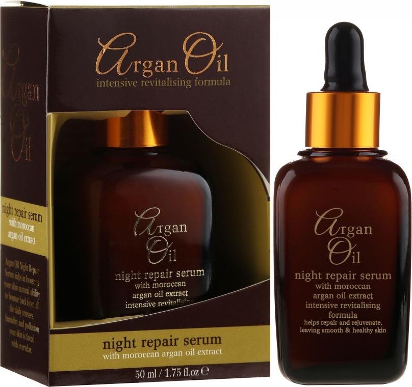 Нощен възстановяващ серум за лице - Xpel Argan Oil Night Repair Serum