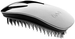 Парфюми, Парфюмерия, козметика Четка за коса - Ikoo Home Metallic Oyster Black