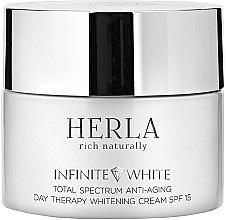 Парфюми, Парфюмерия, козметика Дневен крем за лице - Herla Infinite White Total Spectrum Anti-Aging Day Therapy Whitening Cream SPF 15