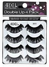 Парфюми, Парфюмерия, козметика Комплект изкуствени мигли - Ardell Double Up 4 Pack 203 Lashes (8бр)