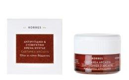 Парфюми, Парфюмерия, козметика Дневен крем против бръчки с кестен - Korres Castanea Arcadia Antiwrinkle&Firming Day Cream