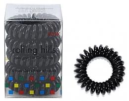 Парфюмерия и Козметика Ластици за коса, черни - Rolling Hills 5 Traceless Hair Rings