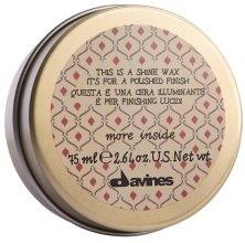 Парфюмерия и Козметика Восък за блясък и изглаждане на косата - Davines More Inside This Is A Shine Wax