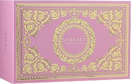 Парфюмерия и Козметика Versace Bright Crystal - Комплект (тоал. вода/90ml + тоал. вода/10ml + несесер)