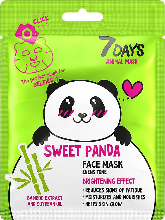 "Маска за лице ""Сладка панда"" - 7 Days Animal Sweet Panda"