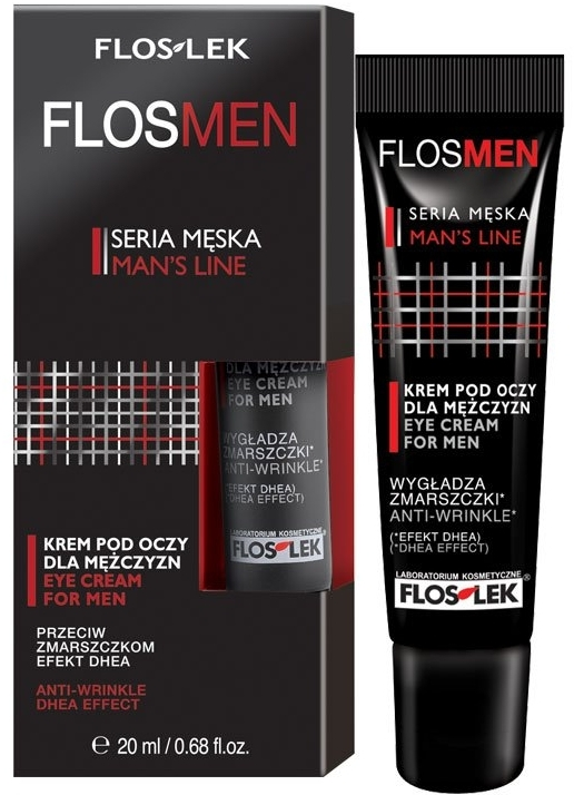 Крем за кожата около очите против бръчки за мъже - Floslek Flosmen Eye Cream For Men Anti-Wrinkle — снимка N1