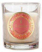 "Парфюмерия и Козметика Ароматна свещ ""Жасмин и карамел"" - Flagolie Fragranced Candle Jasmine And Caramel"