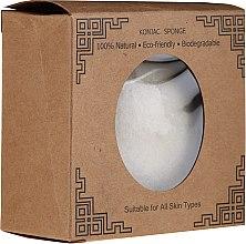 Парфюмерия и Козметика Натурална гъба конджак за лице, кръгла - Lash Brow Konjac Sponge