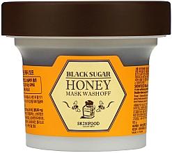 Парфюмерия и Козметика Маска за лице с мед и черна захар - SkinFood Black Sugar Honey Mask Wash Off