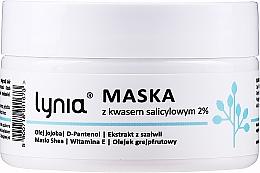 Парфюмерия и Козметика Маска за лице с 2% салицилова киселина - Lynia