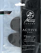 Парфюмерия и Козметика Гъба с активен въглен за премахване на грим - Martini Spa