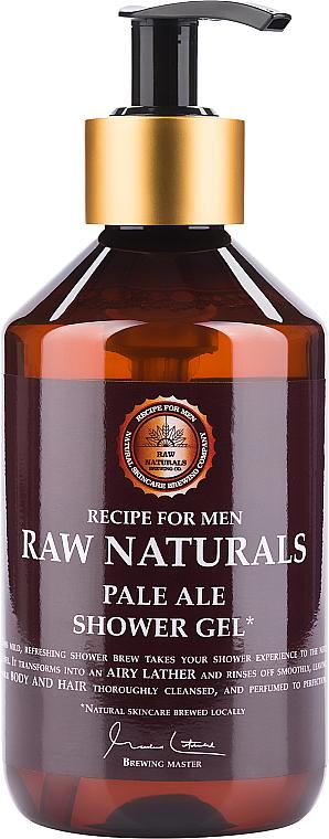 Душ гел за мъже - Recipe For Men RAW Naturals Pale Ale Shower Gel — снимка N1